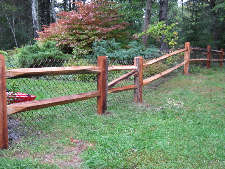 Photo #8, 2-Rail Hardwood Split Rail with Gate