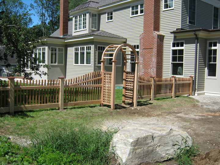 Photo #49, 3' Victorian Picket with Nantucket Arbor