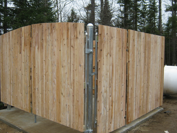 Photo #351, Dumpster Enclosure with Steel Posts