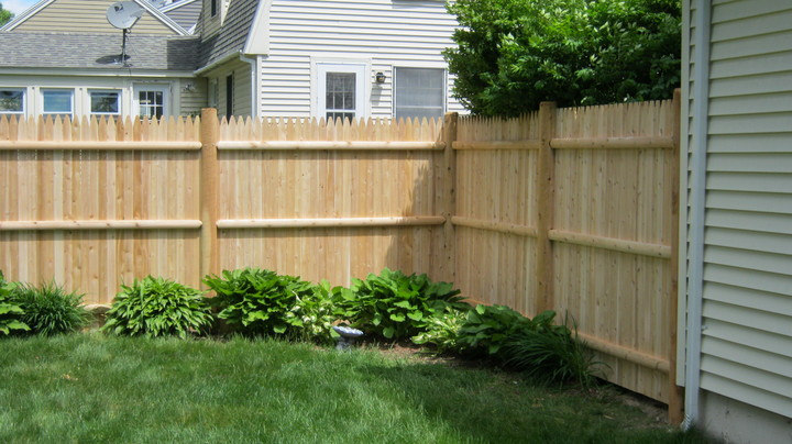 Photo #127, Stockade Fence with Round Posts