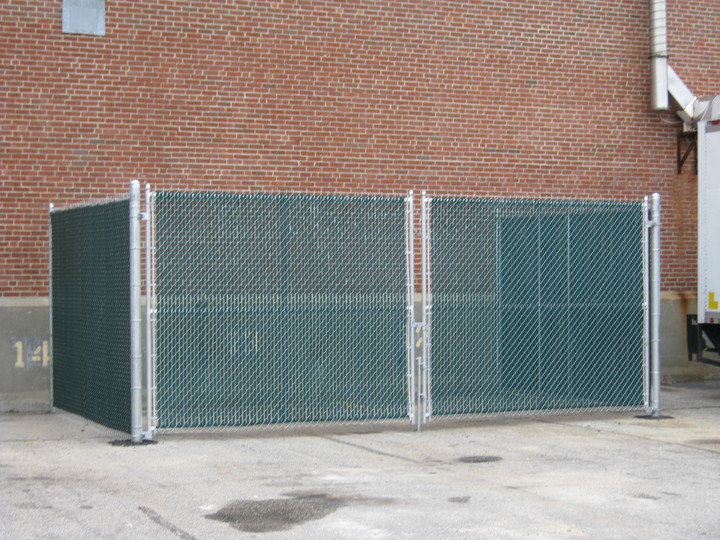 Photo #353, Dumpster Enclosure with Plastic Privacy Slats