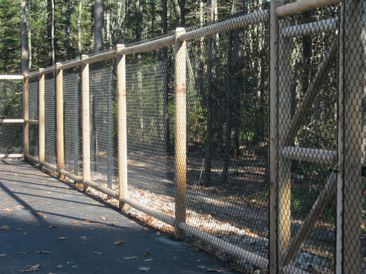 Photo #347, Vinyl-Coated Tennis Court with Cedar Posts