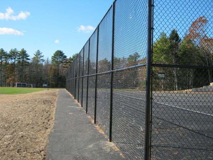 Photo #429, Black Vinyl-Coated Tennis Court