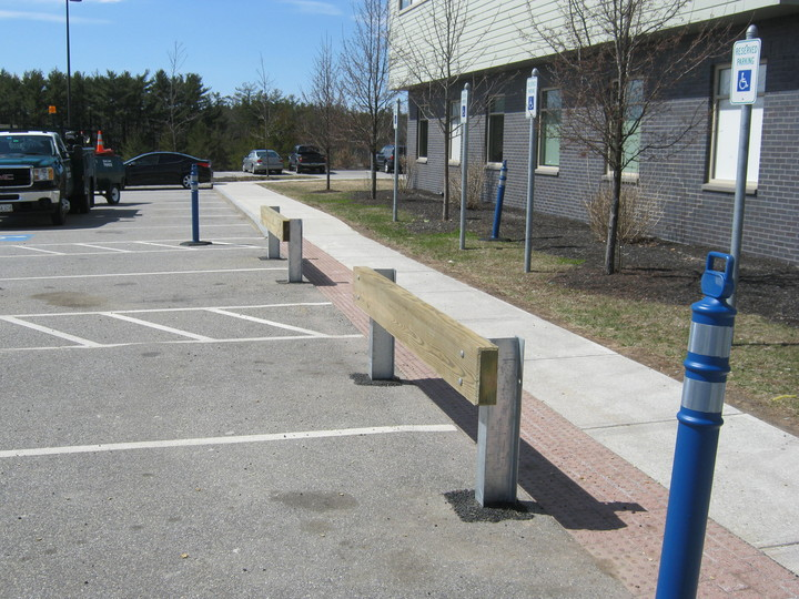 Photo #381, Steel Guardrail Posts with Wood Rail