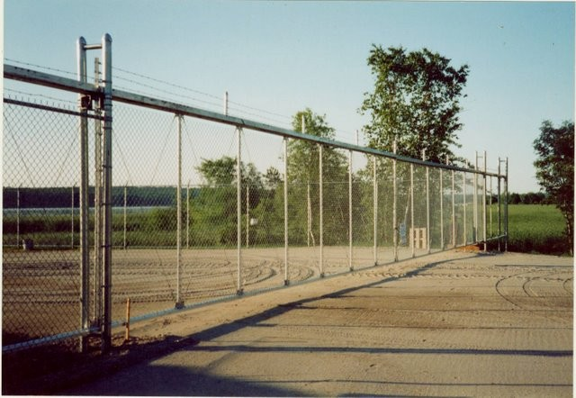 Photo #32, 8' Chain Link with 1' Barb Wire and Cantilever Sliding Gate