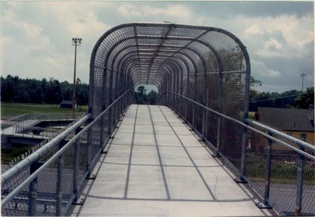 Photo #69, Galvanized Chain Link Arch Way on Pedestrian Bridge