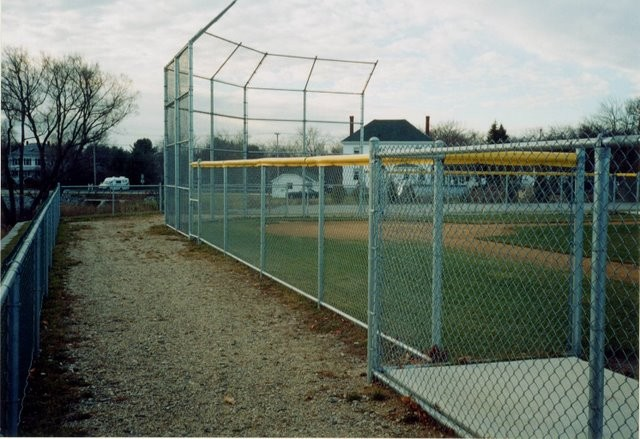 Photo #52, Galvanized Chain Link Back Stop and Fence with Safety Top Cap