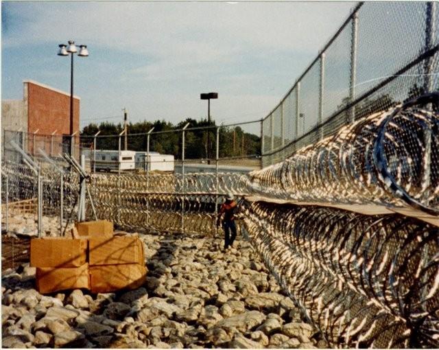 Photo #63, Prison Fence with Razor Ribbon