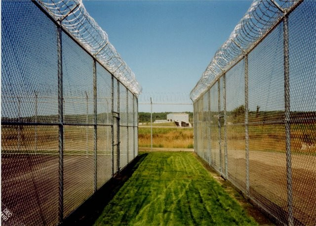 Photo #64, Prison Fence with Razor Ribbon
