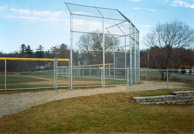 Photo #75, Galvanized Chain Link Back Stop and Fence with Safety Top Cap