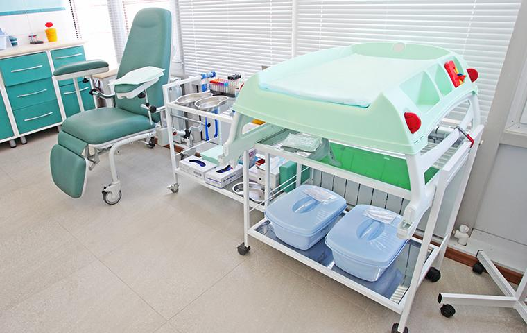 interior of an empty patient room