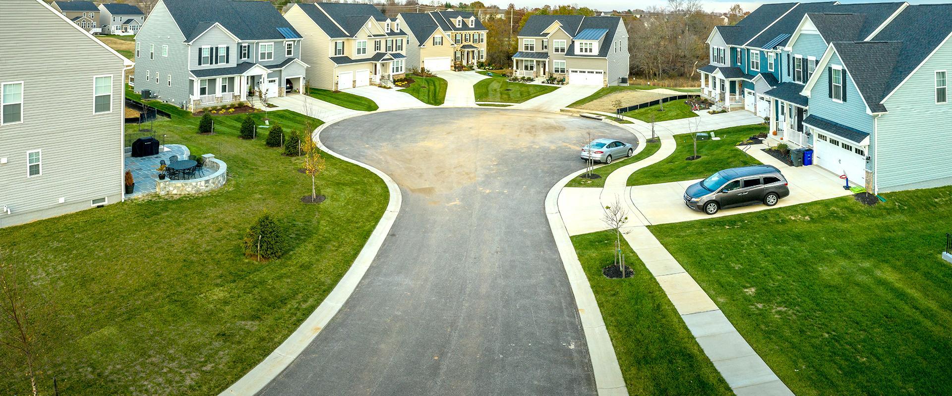 shot of neighborhood circle