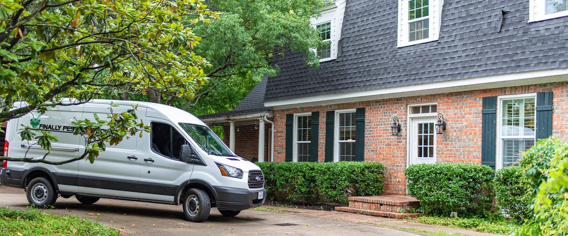 a service van in front of a home in indianapolis indiana