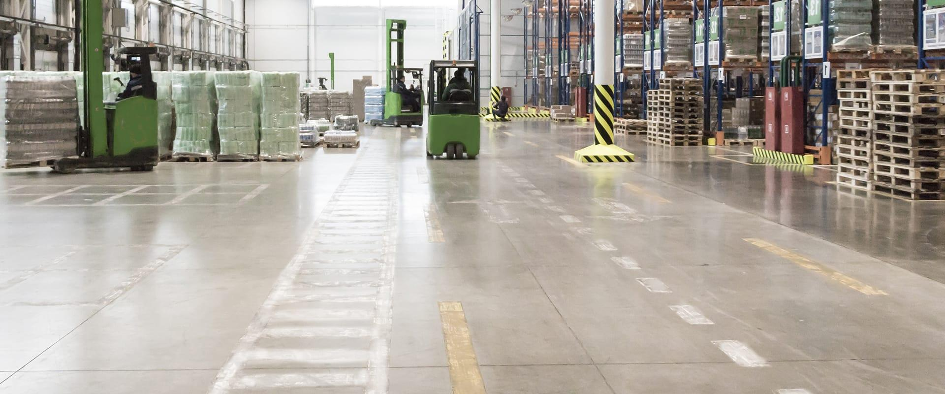 interior view of a warehouse in indianapolis indiana