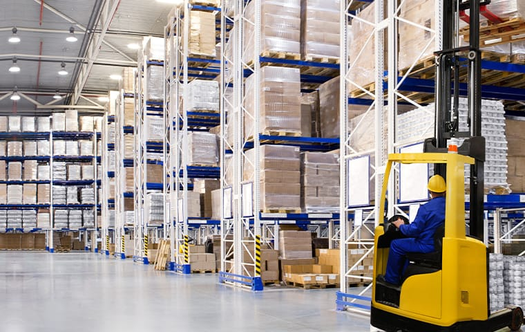 interior of a large warehouse in indianapolis indiana