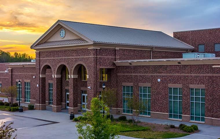a large brick school building