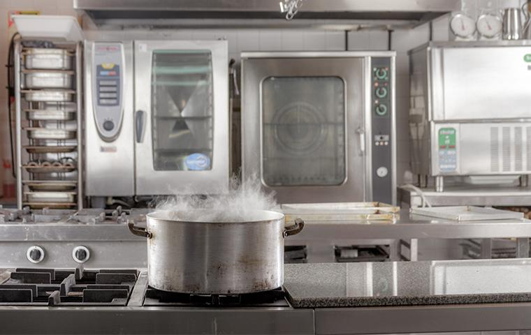 boiling pot of water on stove