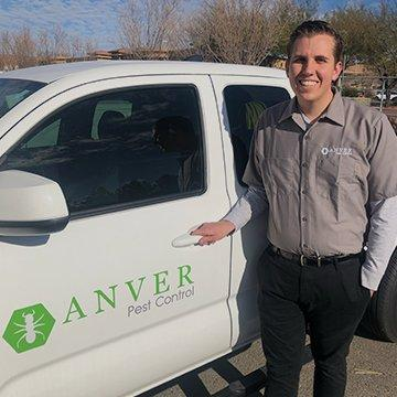 anver tech standing next to truck