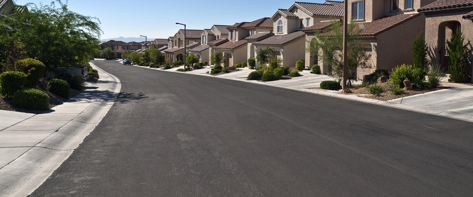 houses along a street in henderson nevada
