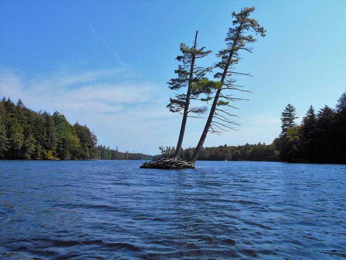 islands come in all sizes (Credit: Wm Hill- Hiking the trail to yesterday)
