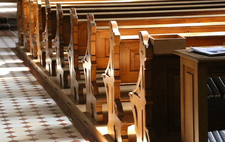 interior of a church in upland california
