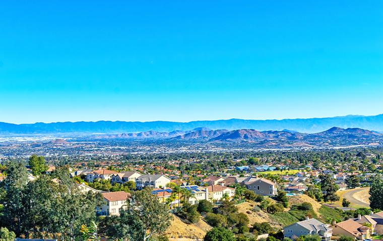 aerial view of upland california