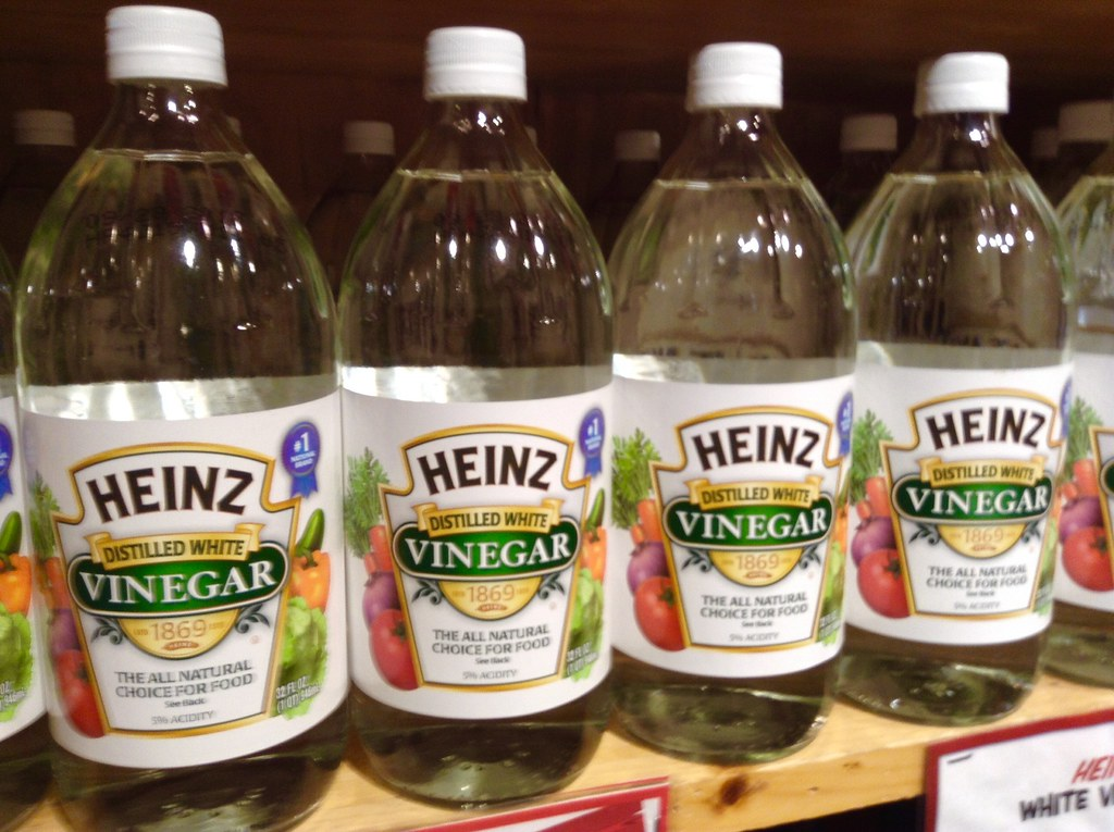 Bottles of vinnegar