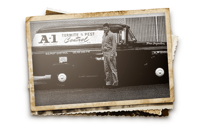 jack roberts in front of old a-1 truck