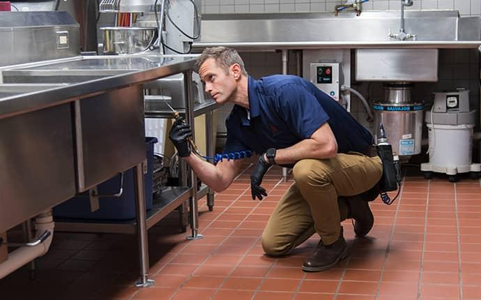 technician servicing linville commercial kitchen