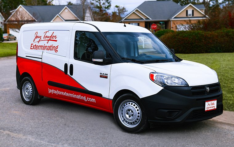 a jay taylor exterminating service van
