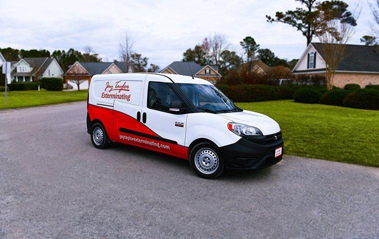 a pest control service vehicle