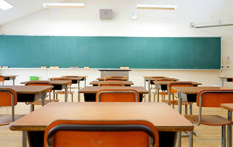 interior view of an empty classroom in perryman