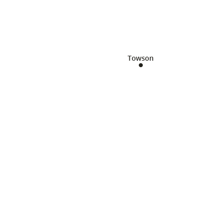 where we service map of maryland