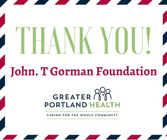 Greater Portland Health Receives 2020 Direct Services Grant From The John T. Gorman Foundation
