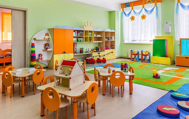 a classroom protected by commercial pest control