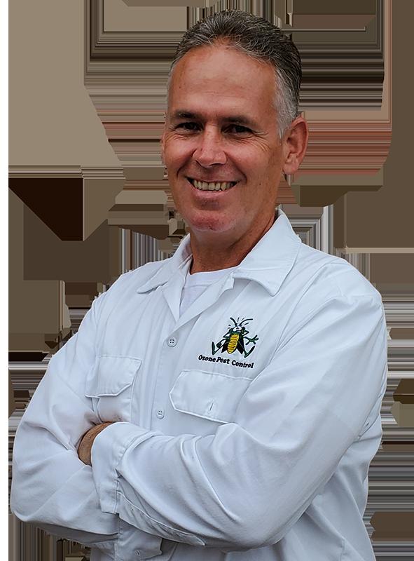 a pest control service technician on a transparent background