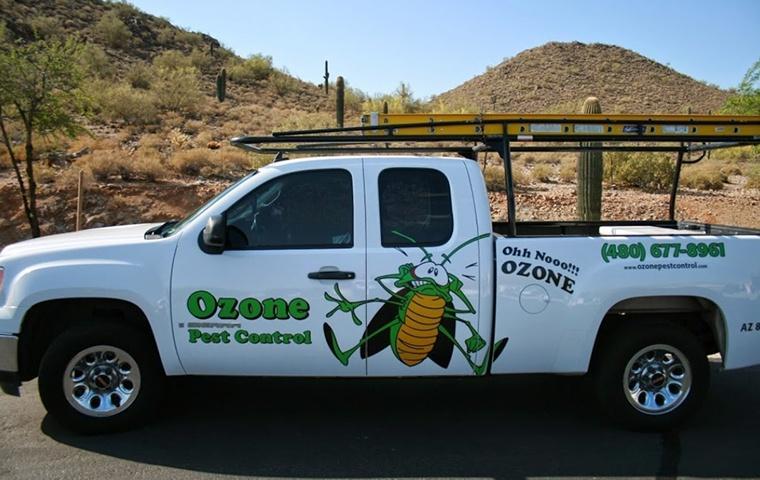 a pest control service company truck