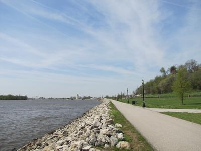 Running River Trail System near downtown Muscatine
