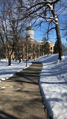 Old Main on a Winter Day