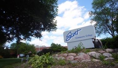 Scott Community College sign