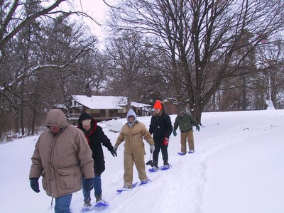 Snowshoeing at the Center