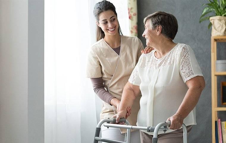 nurse with an elderly lady