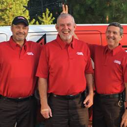three go forth pest control employees