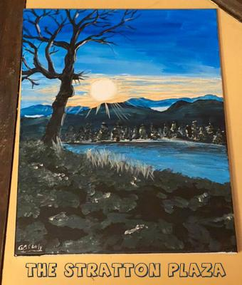 Spooky Paint Night at Stratton Plaza