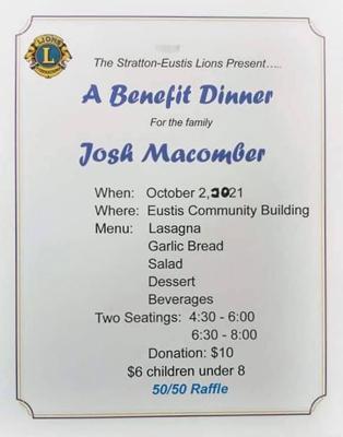 Stratton/Eustis Lions Club Benefit Dinner