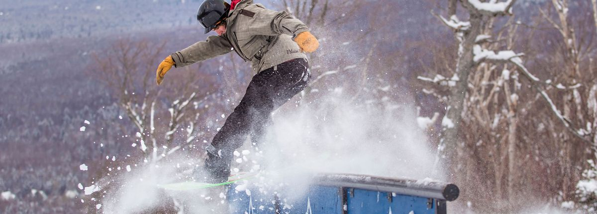 Snowboarding at Sugarloaf