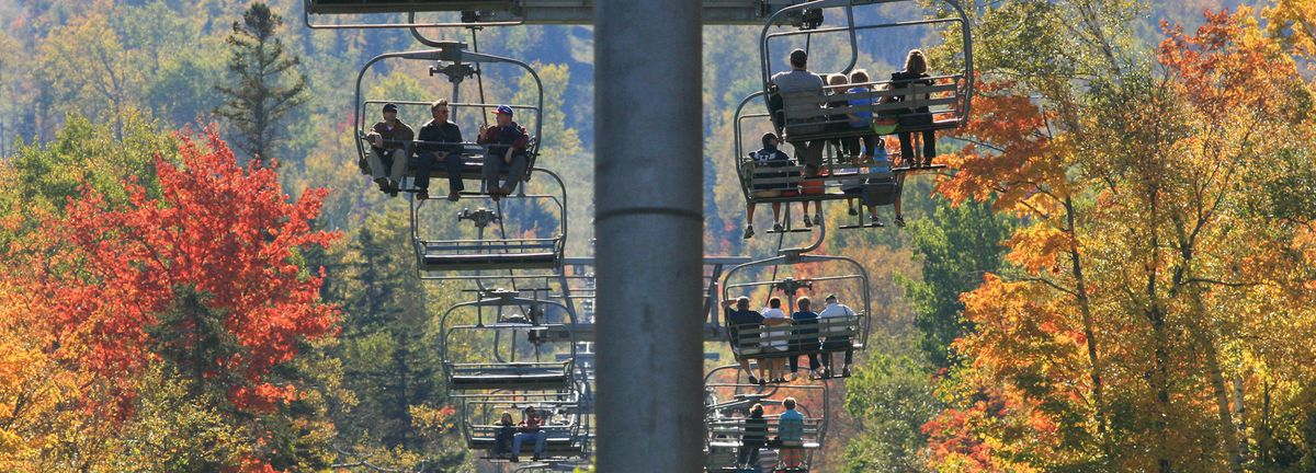 Chairlift rides at Sugarloaf