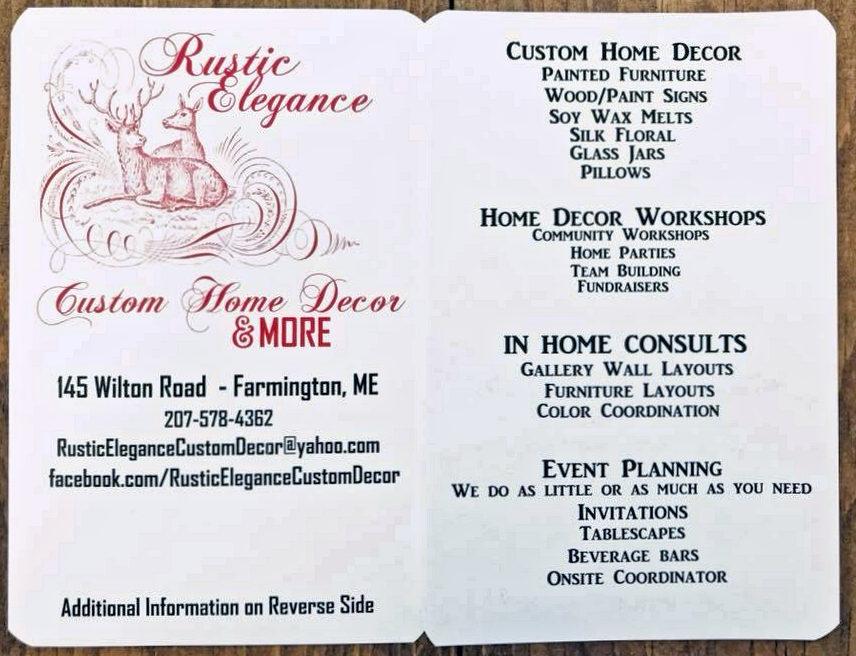 Rustic Elegance Info
