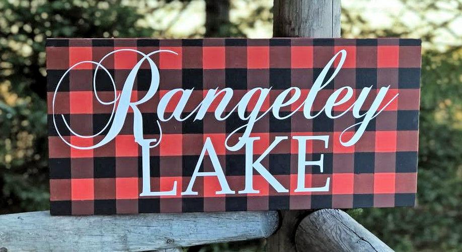 Rustic Elegence Rangeley Lake Sign