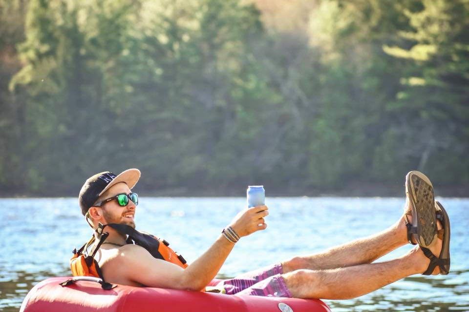 There's no better way to celebrate than floating down the river!